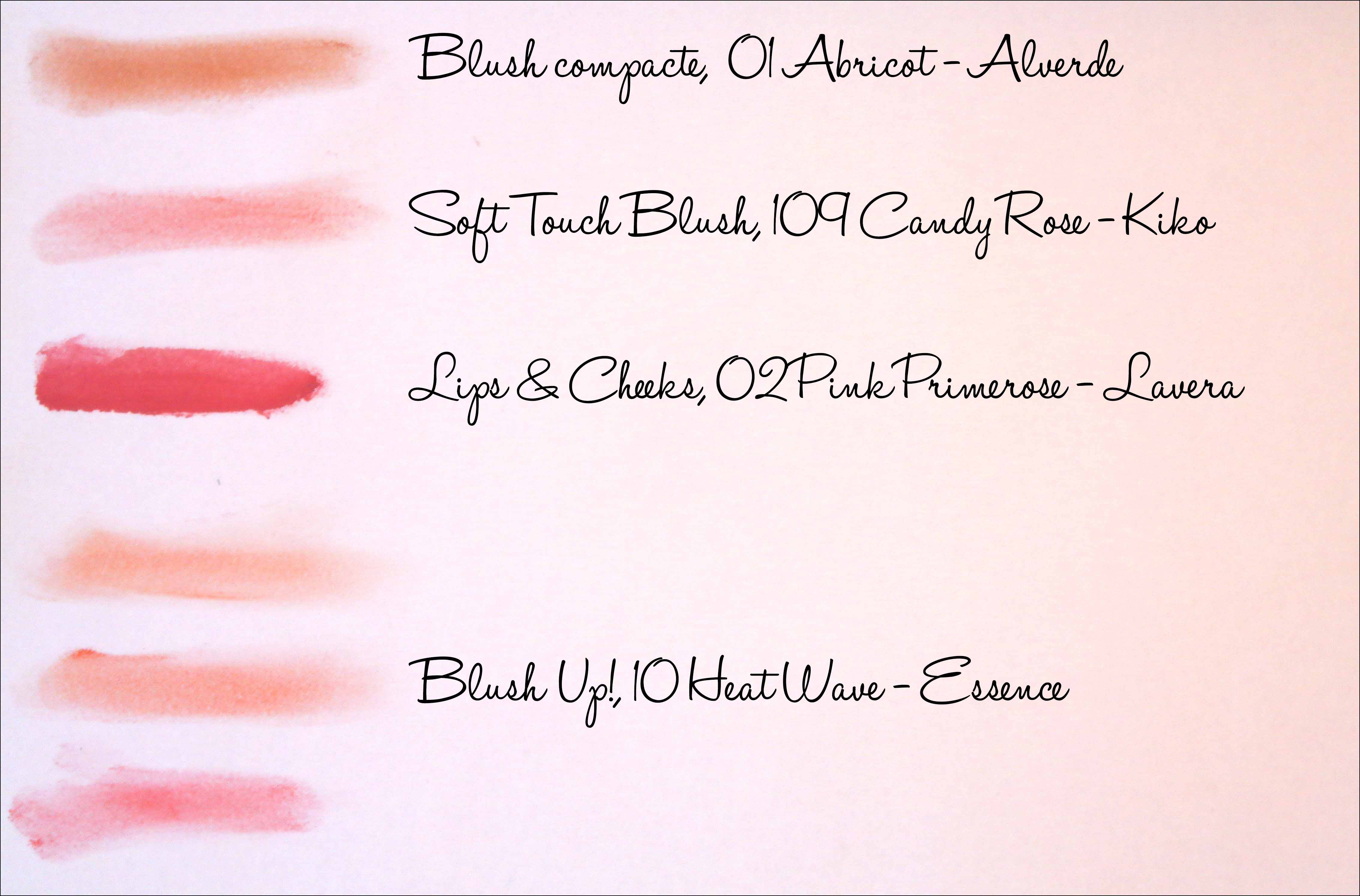blush, blush alverde, blush kiko, blush lavera, blush essence