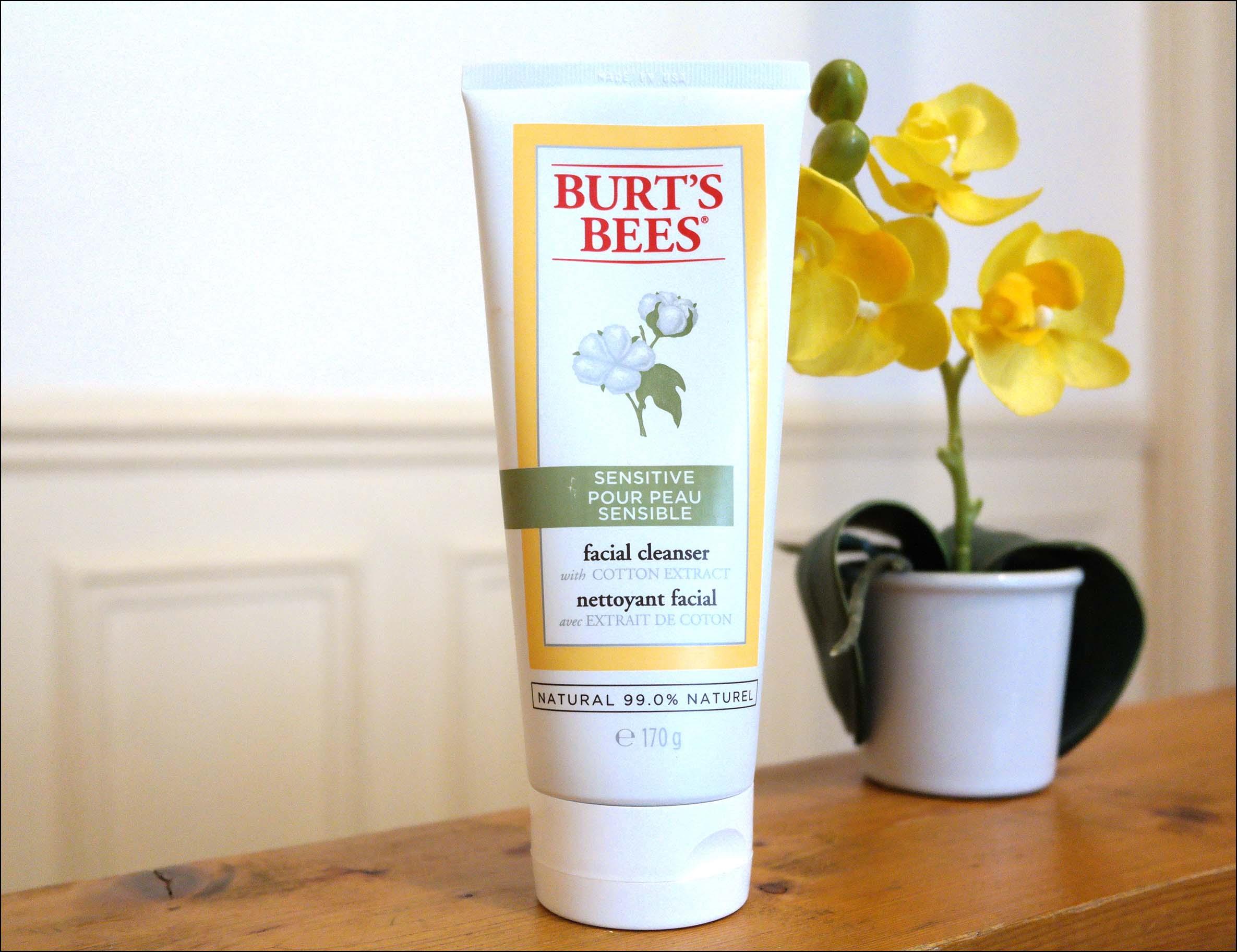 nettoyant, burt's bees, nettoyant burt's bees, crème sensitive, ecco verde