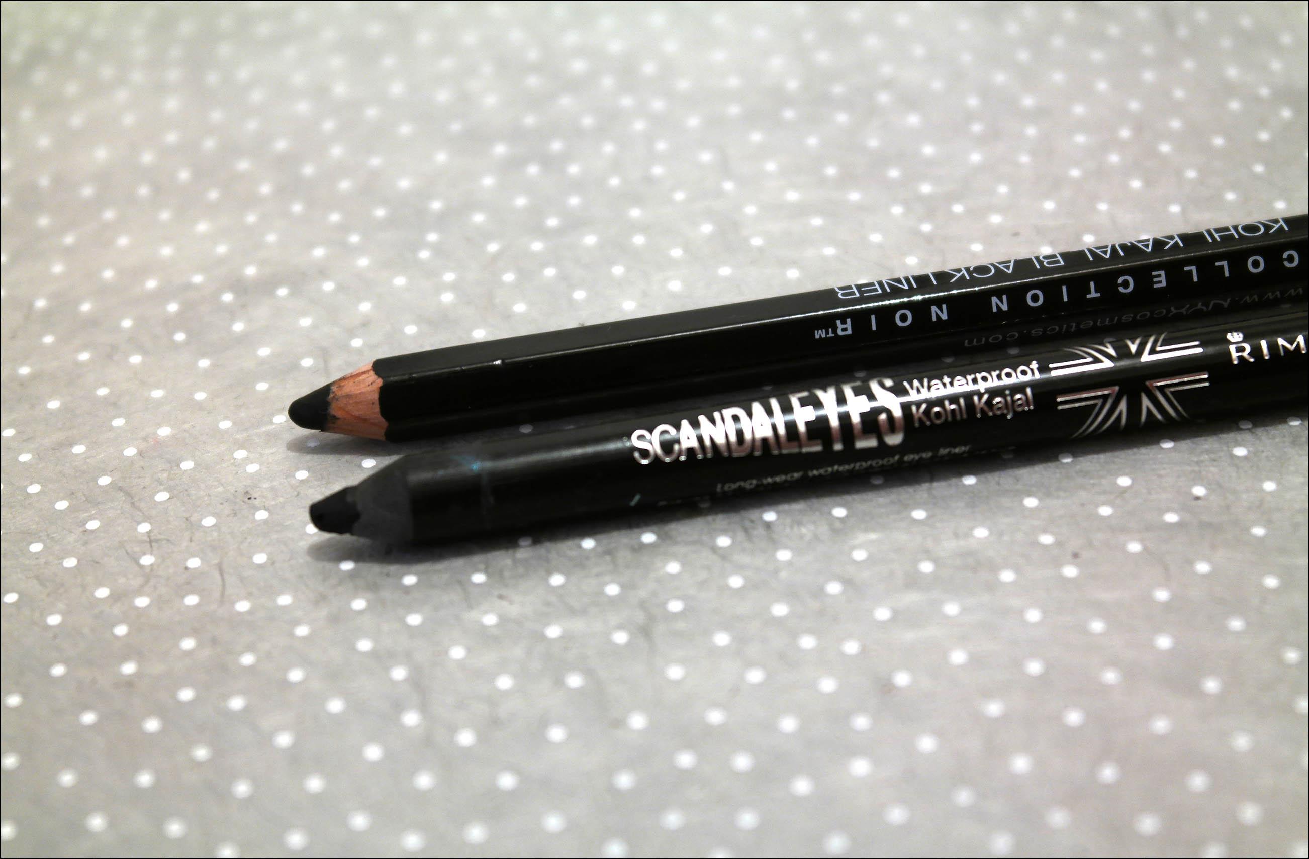 crayon noir, kajal, rimmel, scandaleyes, nyx, liner, liner nyx, kajal nyx, kajal rimmel