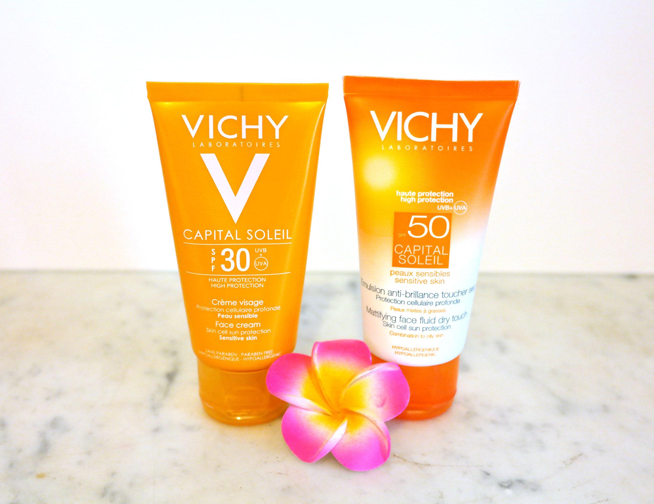 Crème solaire, Vichy, Capital soleil